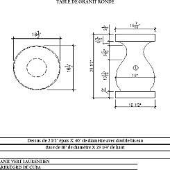 Table de granite ronde