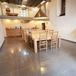 Plancher cuisine en marbre
