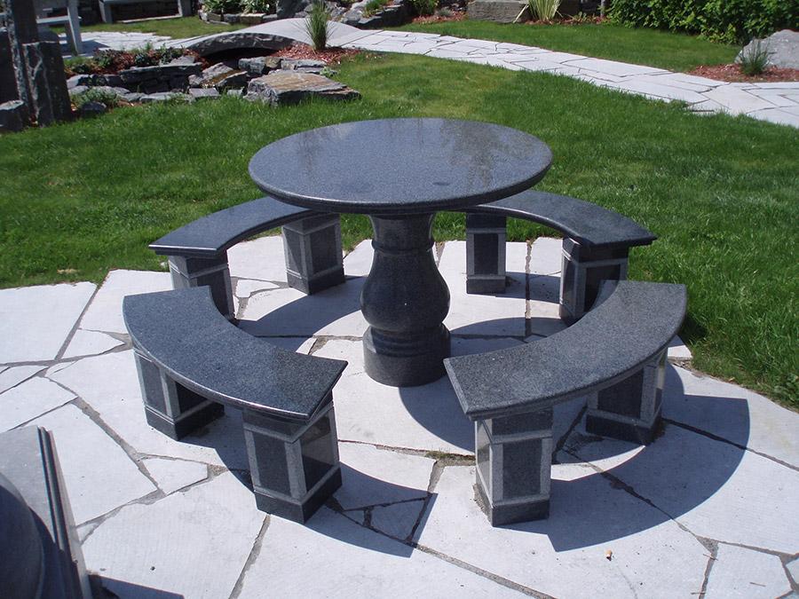 table en granit amazing round granite table luxury metal. Black Bedroom Furniture Sets. Home Design Ideas