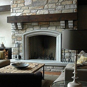 foyer en pierre indiana beige