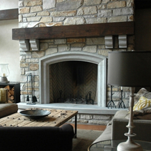 Foyer en calcaire indiana beige pierres technoprofil - Foyer pour barbecue en pierre ...