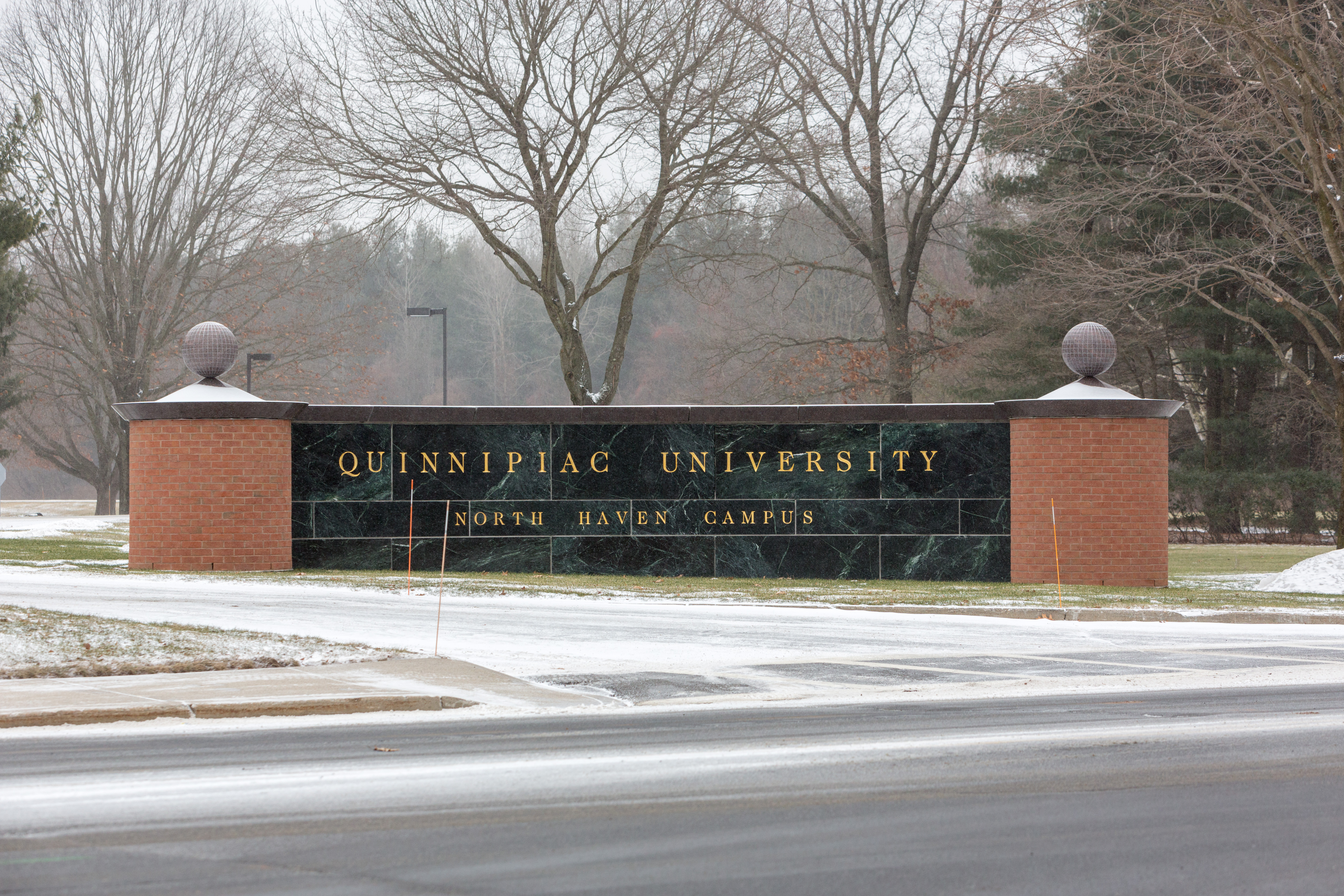 Quinnipiac University North Haven Campus sign 2014-01-02